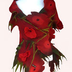 Schal Nr. | Scarf No. 315  |  150 €   |   Chiffon/Merino gefilzt/felted   |   Individualisierbar
