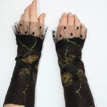 Stulpen Nr. | Wristlets No. 17  |  45 €   |   Chiffon/Merino gefilzt/felted