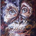 Portrait:Affe 20x40cm
