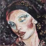 Portrait: Die Träumende 30x30cm