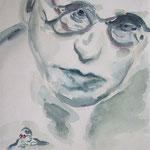 Portrait:Michael Nyman 24x18cm