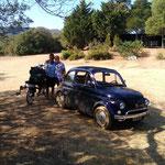 à Marcinaggio, ce couple italien et la Fiat 500 de 1953