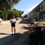 à Coti-Chiavari, Bernard a eu du mal à nous suivre