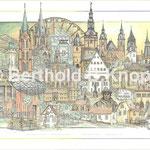 Städte- u. Vereinspartnerschaft VHK Herne+SSV Wolferode, (Tusche-Aquarell, 50 x 70cm) ©Berthold B.Knopp