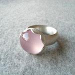 Silberring mit Rosenquarz