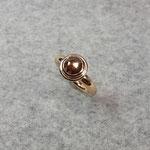 750er Roségoldring mit Diamant im Rosecut