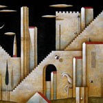 Pensiero ricorrente, oil and acrylic on board, cm 60x120- Sold