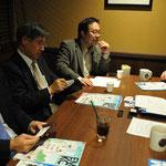 左より 野口アキラ、佐藤吉孝、尾上良明の各氏