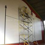 Rénovation du mur de Pala en peinture pour sol
