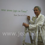 Citation de St Jean de La Croix en Lettres Peintes