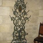 Porte parapluie : peinture bronze et patine