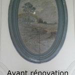 Médaillon de cheminée AVANT rénovation
