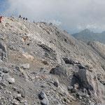 Escursionisti in vetta al Peralba