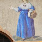 Dipinto sul muro di una casa del centro storico di Brunico