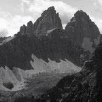 Le tre cime dalla cresta Carnica