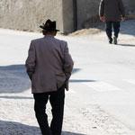Anziano abitante del paese