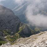 il rif. Calvi dalla cima del Peralba
