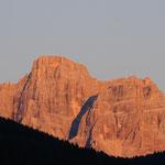 Il Pelmo al tramonto da Ornella