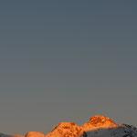 Tramonto e luna in Engadina