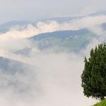 Panorama verso la Pusteria coperta di nuvole
