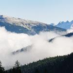 Panorama verso le Alpi austriache