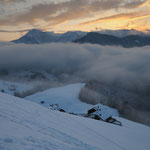 Alba dopo la nevicata (Val Badia)