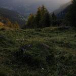 primi raggi di sole ai monti alti di Ornella