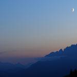 Cime e luna dal Duran