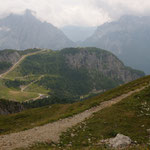 Panorama dai laghi verso il rif. 2000