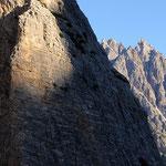 La parete del monte Mattina in secondo piano il Baranci