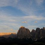 Gruppo del Sassolungo al tramonto (alpe di Siusi)