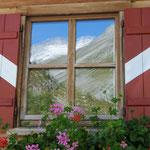 La finestra sul ghiacciaio (Goge alm, Val di Rio Bianco)
