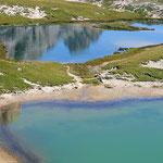 Le acque turchesi dei Laghi dei Piani