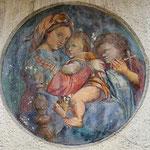 Dipinto sul muro di una casa del centro di Brunico