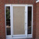 Unsere Haustür - noch mit Baufüllung