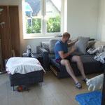 Wohnzimmer - noch ziemlich durcheinander