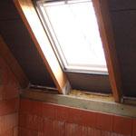 Dachfenster im Waschraum