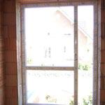 Fensterelement im Flur oben