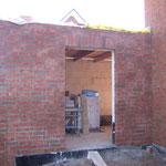 Tür aus der Garage zum Garten