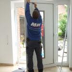 Montage der Haustürfüllung
