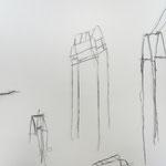 o.T., Bleiblech, hartgelötet, Gesamtmaß der Wandinstallation 2x2m, 2018