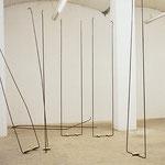 """""""Aufstellung"""", 2001, Rundstahl, kalt geschmiedet, geschweißt, ca. je 50 x 300 x 10 cm"""