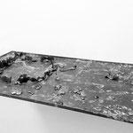 """""""Krone 3"""", ca. 25x50x3 cm, Blei-und Zinkblech, 2017"""