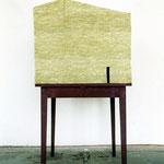 """""""Vatertisch I"""", Mineralwolle, Tisch, Acrylfarbe"""