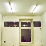 """""""Raumzeichnung - Fenster III"""",   2003   Glas, Karton, MDF-Platte, Acryl"""