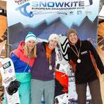 Deutsche Meisterschaft Race: 2. Inga Wobker, 1. Christine Bönniger, 3. Judith Müller © Tobias Eble (www.kitepix.net)