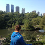 on top of a hill in the Central Park