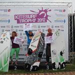 Siegerehrung Race Damen: 2. Annett Bremer, 1. Christine Bönniger, 3. Heike Wycisk