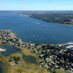 helicopter flight above Rhode Island