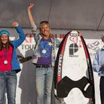 Siegerehrung: Damen Race KTE Overall ( 3. Platz Ines Correira konnte leider nicht bei der Ehrung anwesend sein)